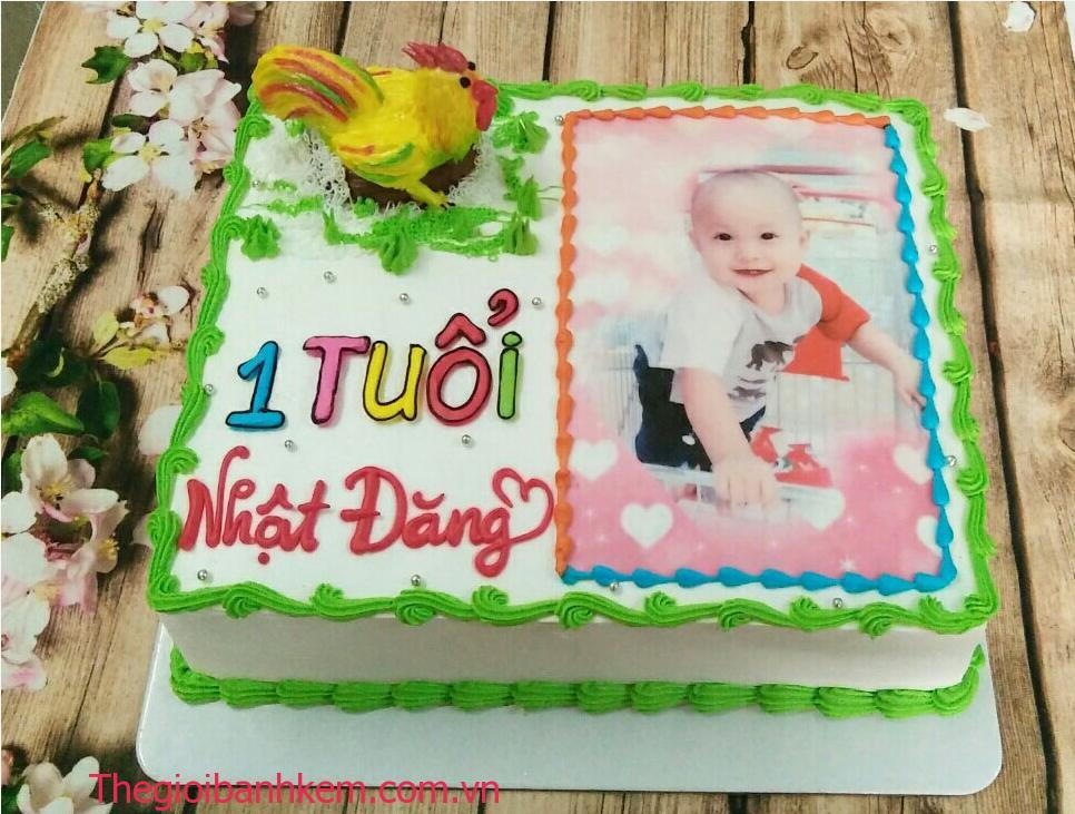 Bánh sinh nhật in ảnh Mã B1483