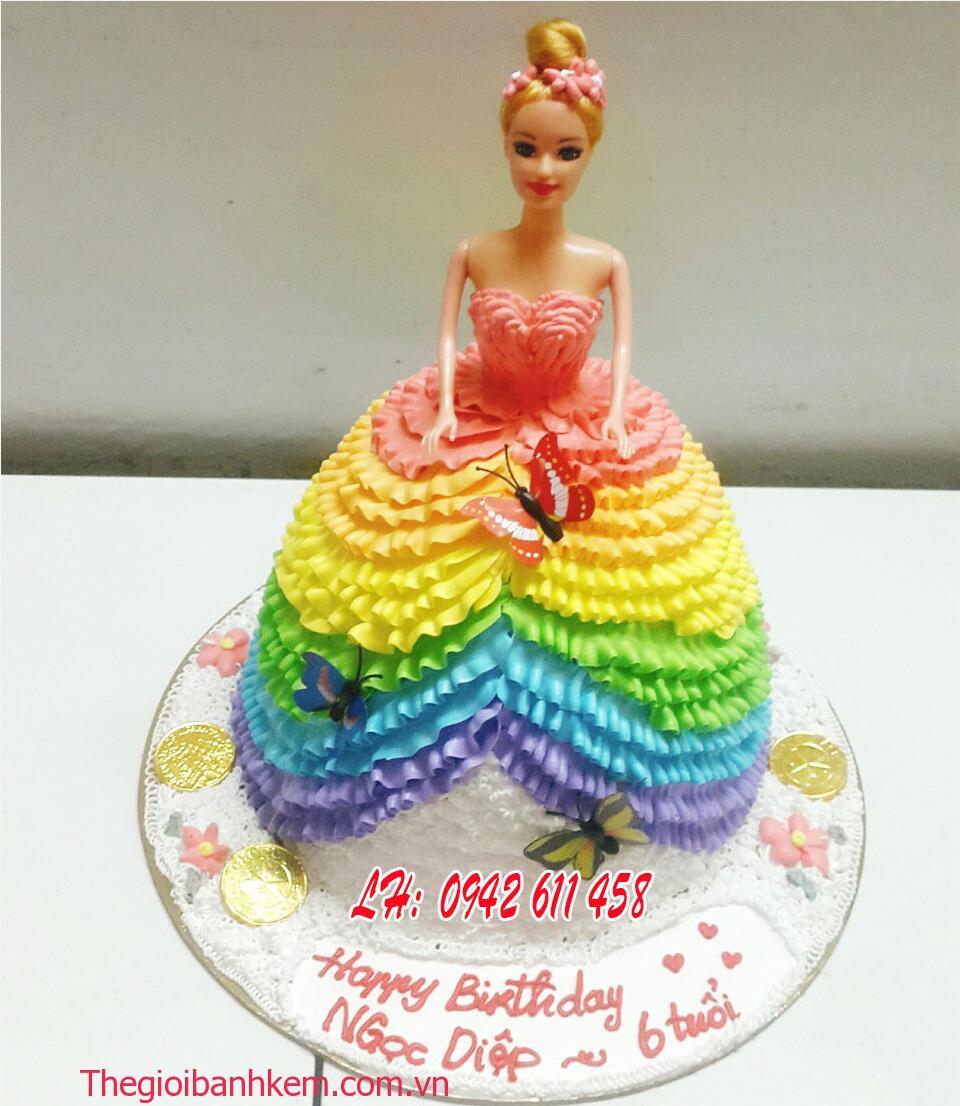 Bánh kem công chúa 3D mã B5415