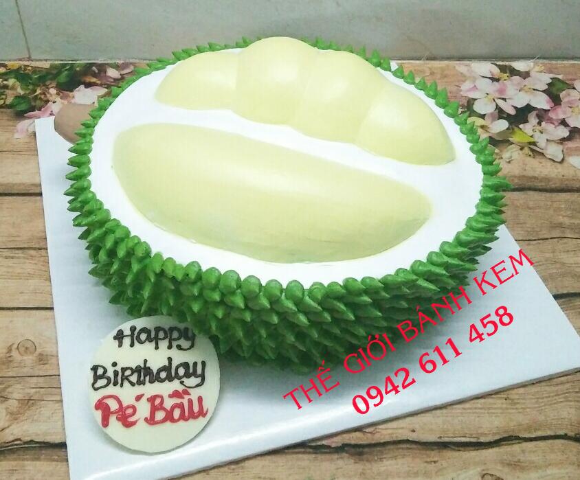 Bánh kem sinh nhật hình quả sầu riêng Mã B17192