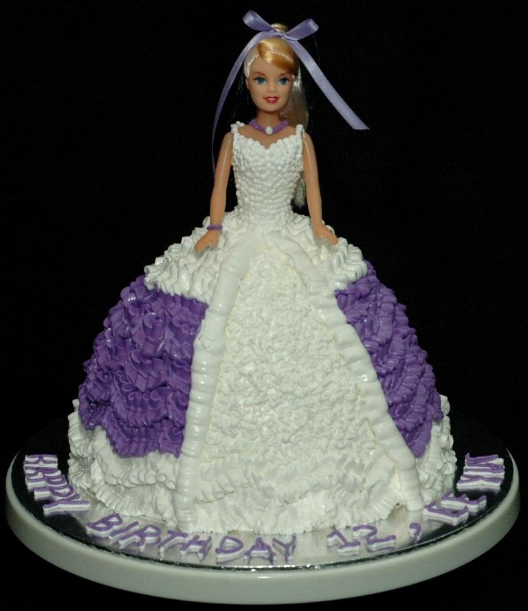 Bánh công chúa váy tím mã B394