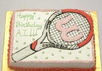 Bánh cây vợt Tennis mã B4702