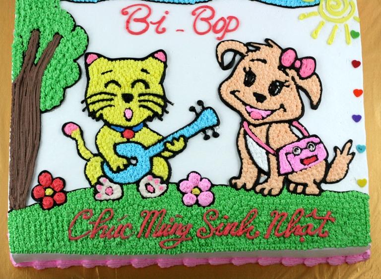 Bánh đôi bạn chó mèo mã B1926