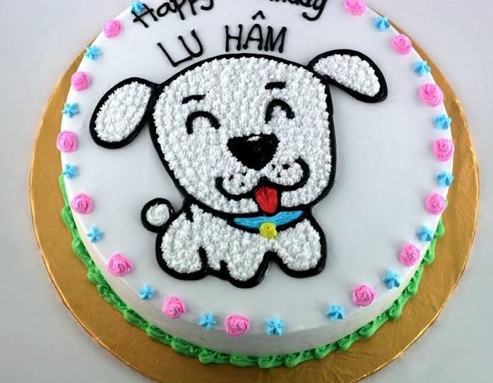 Bánh con chó cún mã B1928