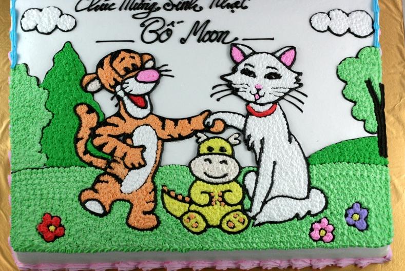 Bánh gia đình hổ mèo mã B1935