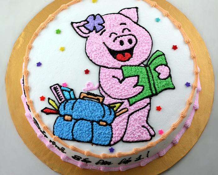Bánh heo con đọc sách mã B1102