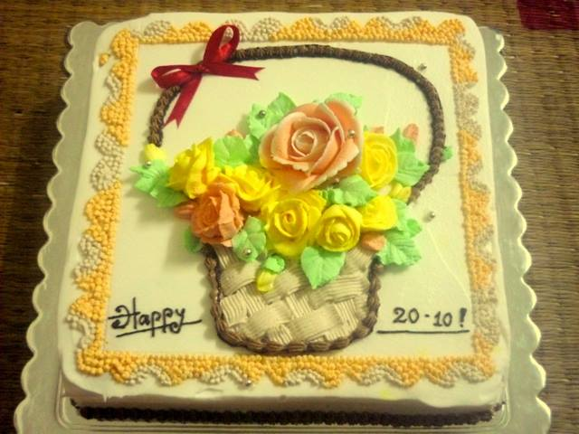 Bánh hình lẵng hoa mã B8152