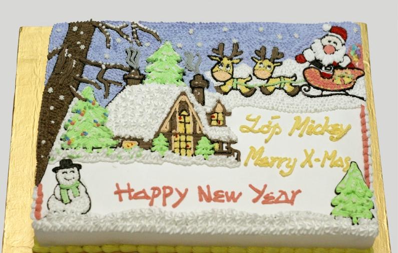 Bánh sinh nhật noel- giáng sinh B2312