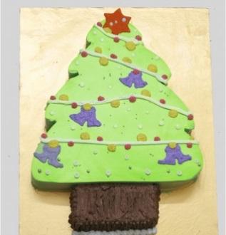 Bánh kem cây thông noel Mã B2318