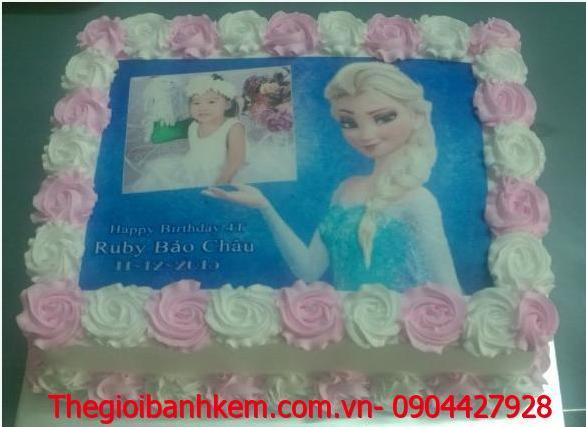 Bánh kem in ảnh Elsa  Mã B1876