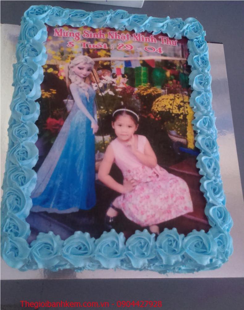 Bánh sinh nhật in ảnh Elsa Mã B1887