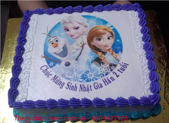 Bánh in hình Elsa & Annna Mã B1890