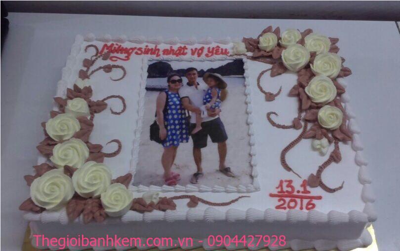 Bánh sinh nhật in ảnh Mã B1895