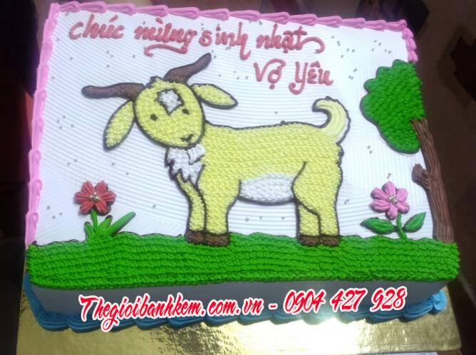Bánh sinh nhật con dê B1703