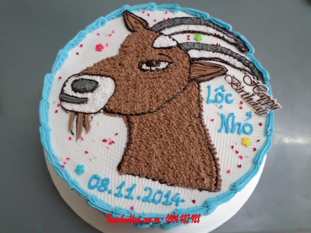 Bánh sinh nhật con dê Mã B1710