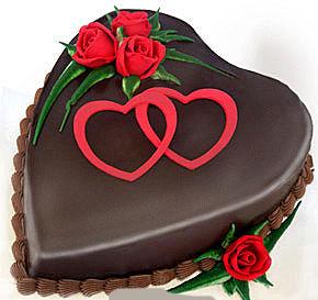 Bánh kem trái tim socola Mã B104