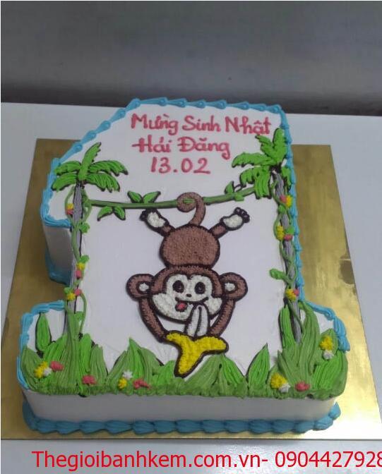 Bánh kem tuổi khỉ mã B1723