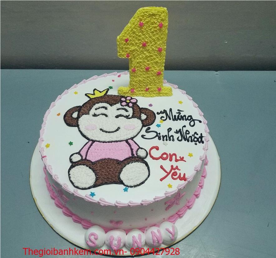 Bánh sinh nhật con khỉ Mã B1736