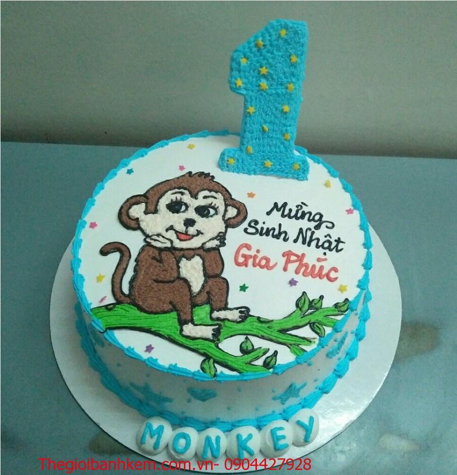 Bánh sinh nhật con khỉ Mã B1741