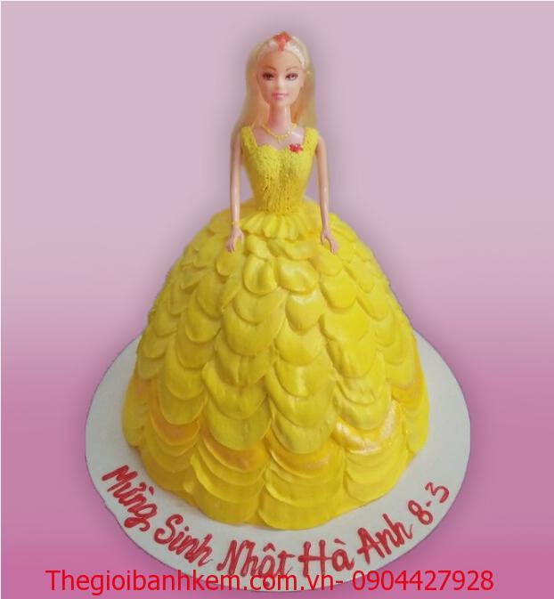 Bánh sinh nhật công chúa  Belle 3D Mã B1221