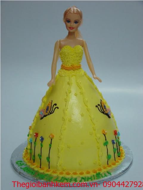 Bánh sinh nhật công chúa 3D Mã B1223