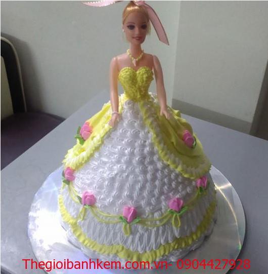 Bánh sinh nhật công chúa 3D Mã B1226