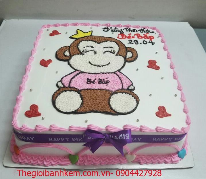 Bánh sinh nhật con khỉ Mã B1762