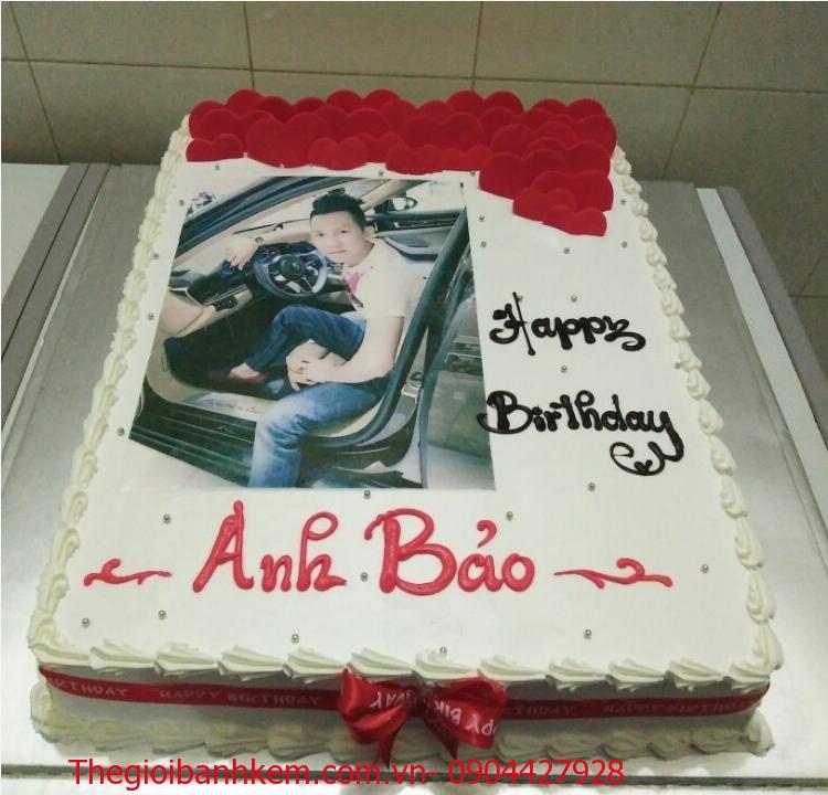 Bánh sinh nhật in ảnh Mã B4163
