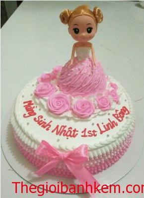 Bánh kem công chúa 3D Mã B1239