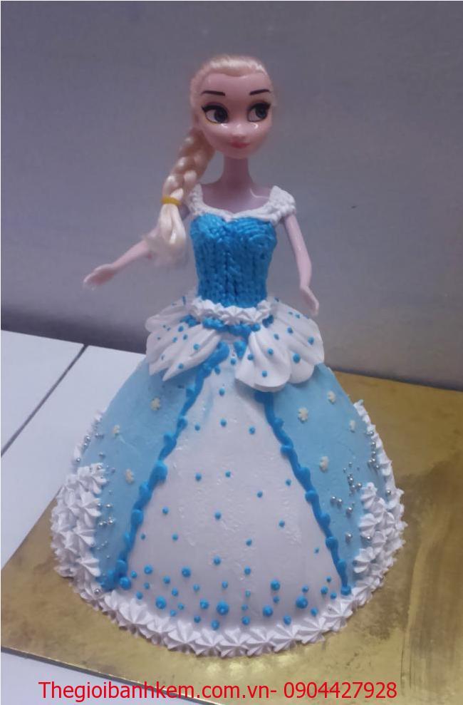 Bánh kem búp bê Elsa Mã B2649