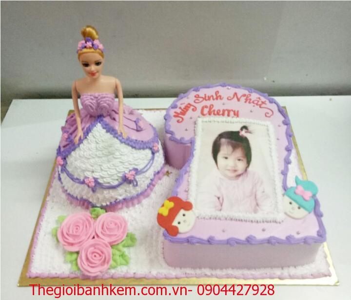 Bánh kem công chúa 3D Mã B1407