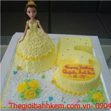 Bánh sinh nhật công chúa Bella Mã B4507