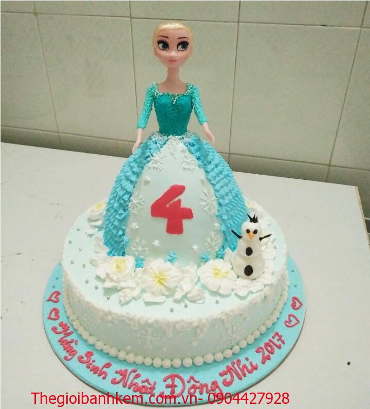 Bánh sinh nhật búp bê Elsa Mã B1507