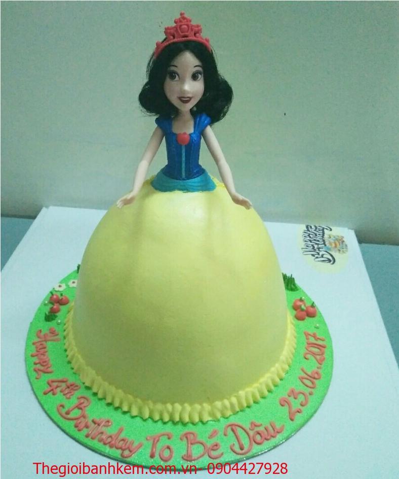 Bánh sinh nhật công chúa 3D Mã B1607