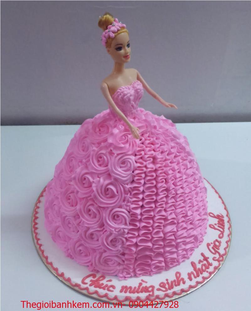 Bánh sinh nhật công chúa 3D Mã B2107