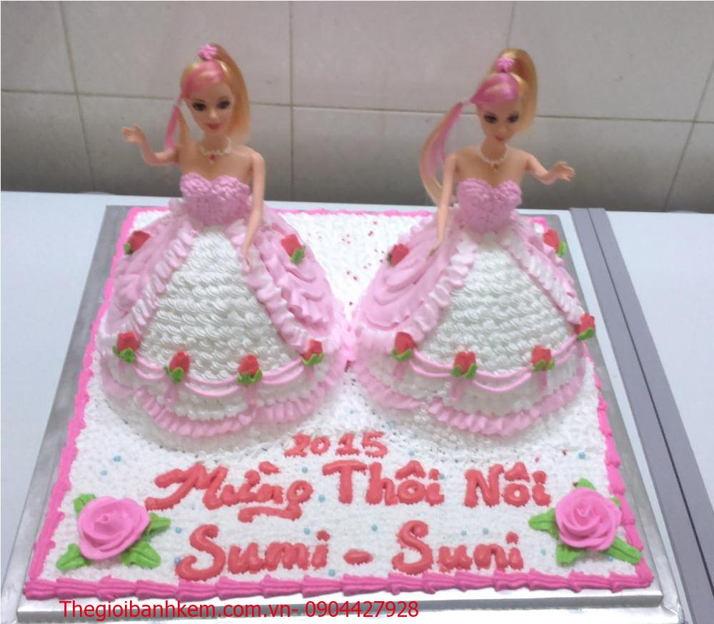 Bánh sinh nhật công chúa 3D Mã B1907