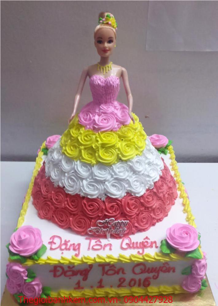 Bánh sinh nhật công chúa 3D Mã B2007