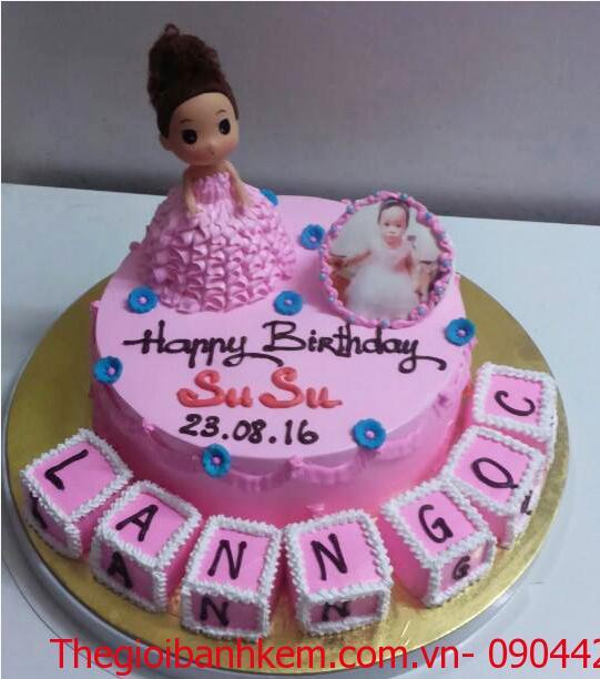 Bánh sinh nhật công chúa 3D Mã B5607