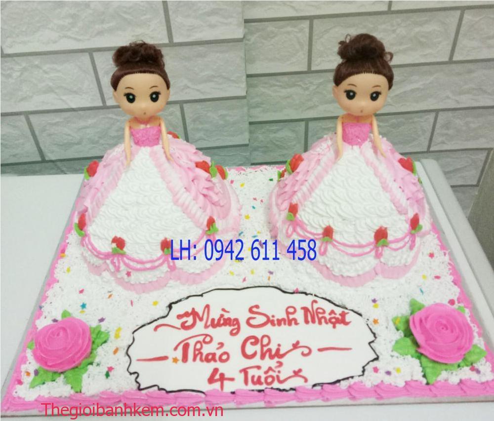 Bánh kem công chúa sinh đôi Mã B1497