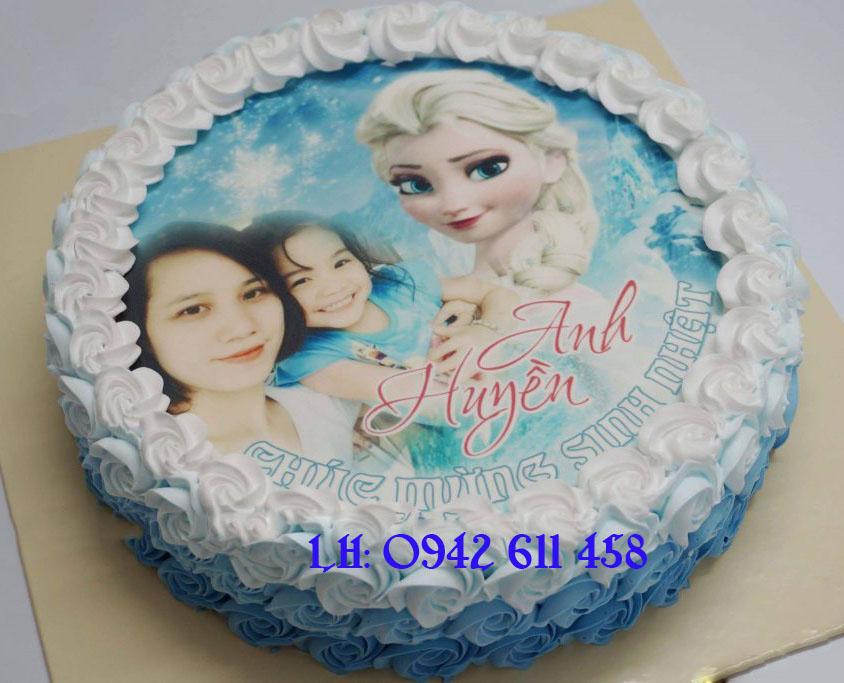 Bánh sinh nhật in ảnh elsa Mã 5381