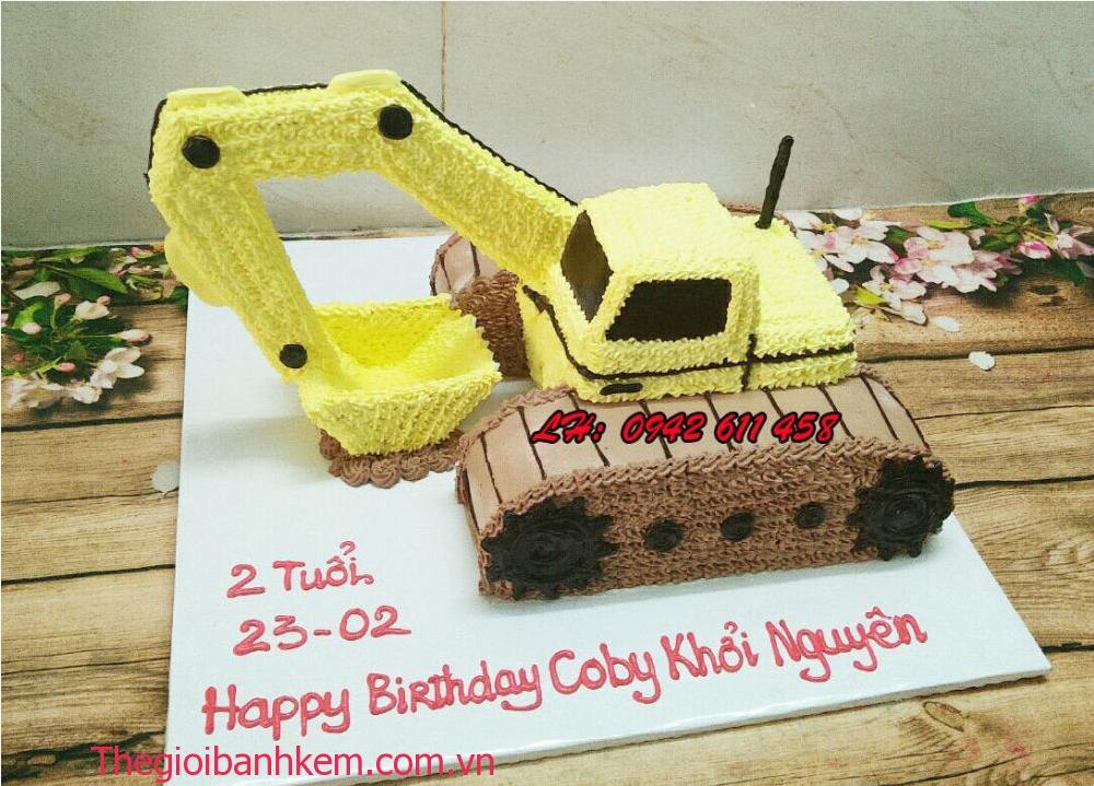 Bánh kem xe cẩu 3D mã B5413
