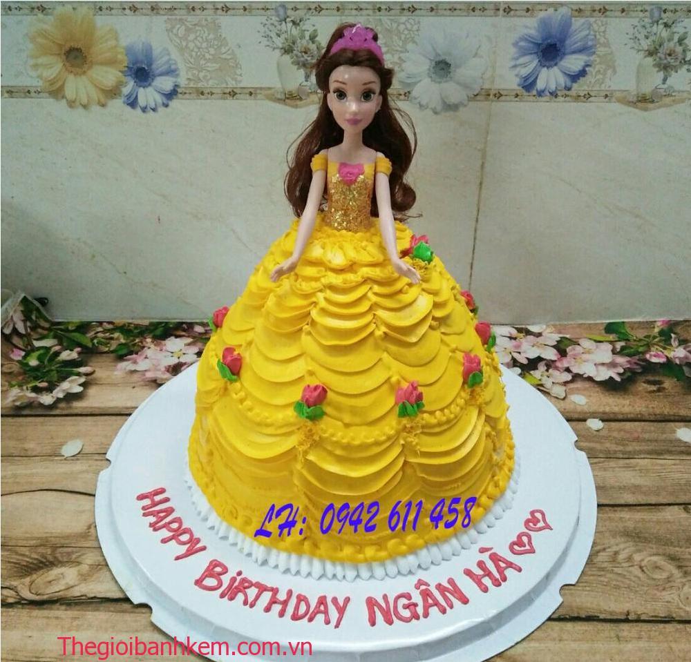 Bánh sinh nhật công chúa Belle 3d Mã B5419