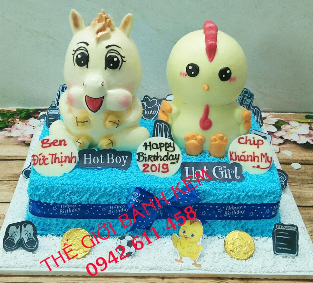 Bánh sinh nhật hình con gà