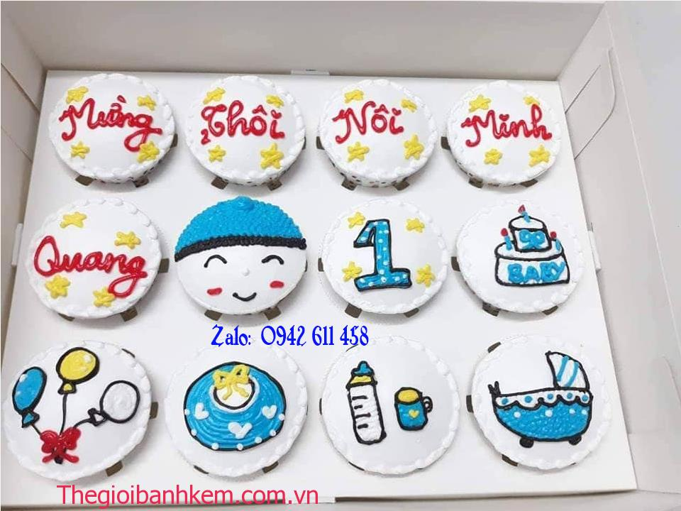 Bánh cupcake mừng thôi nôi C44