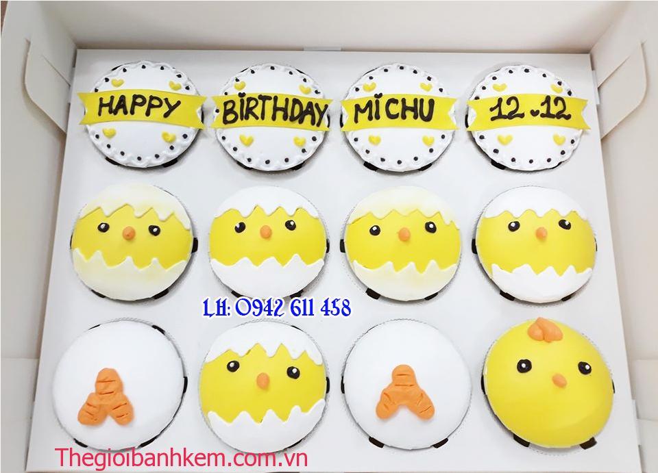 Bánh cupcake con gà Mã CC46