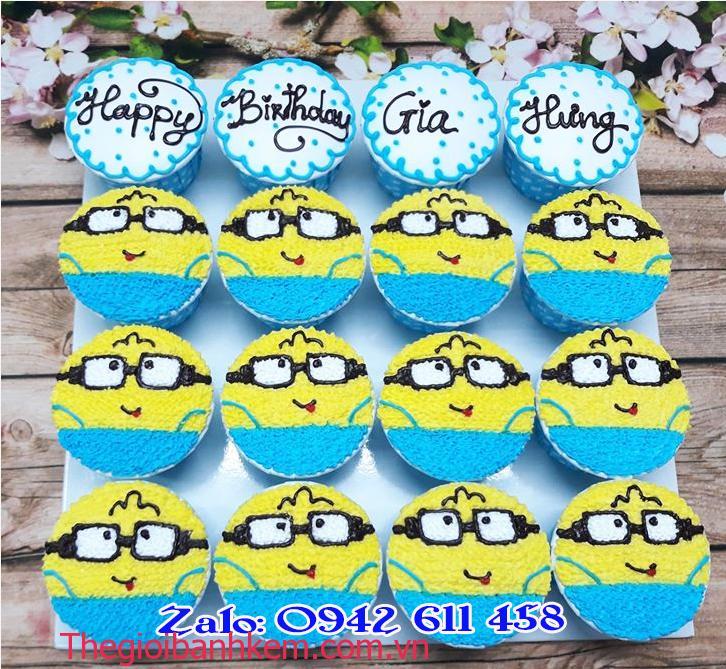 Bánh cupcake Minion CC41