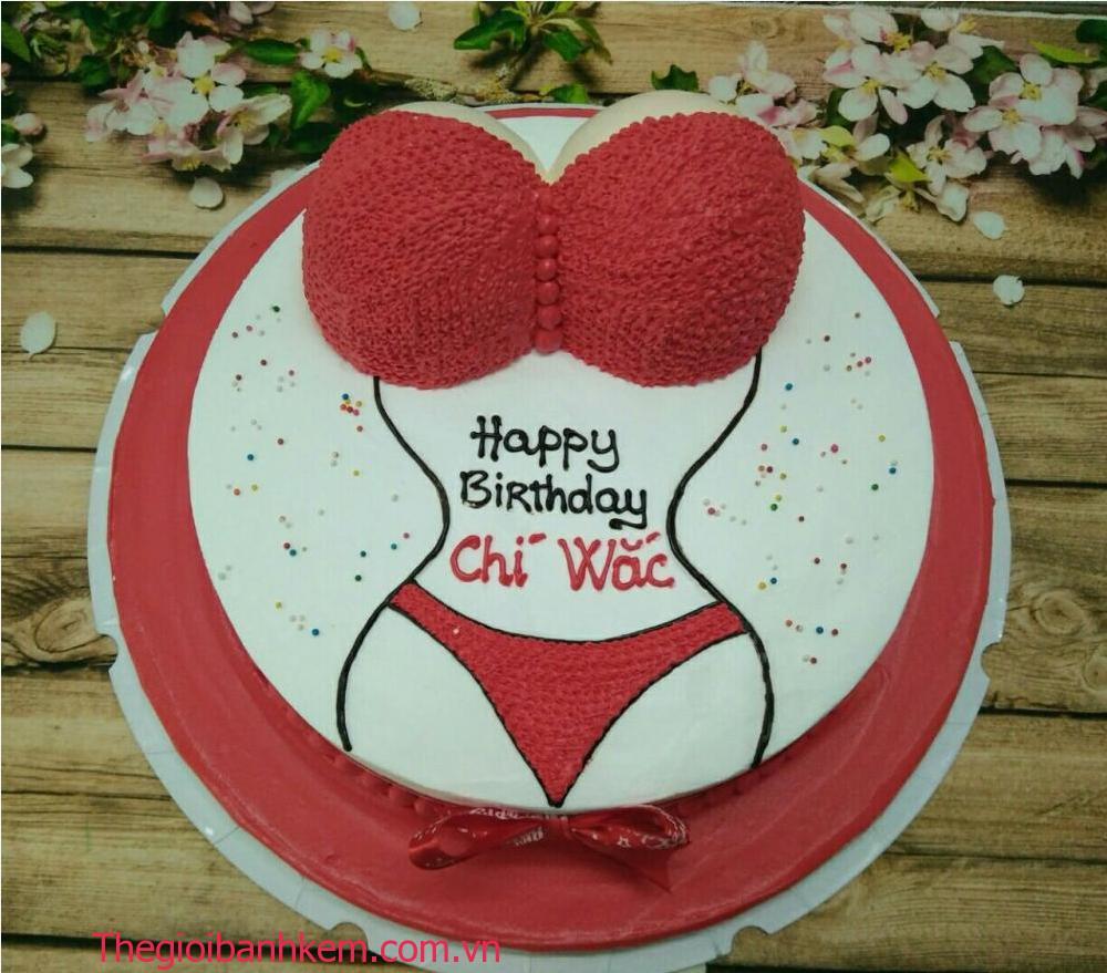 Bánh kem sinh nhật hình bikini mã B0601