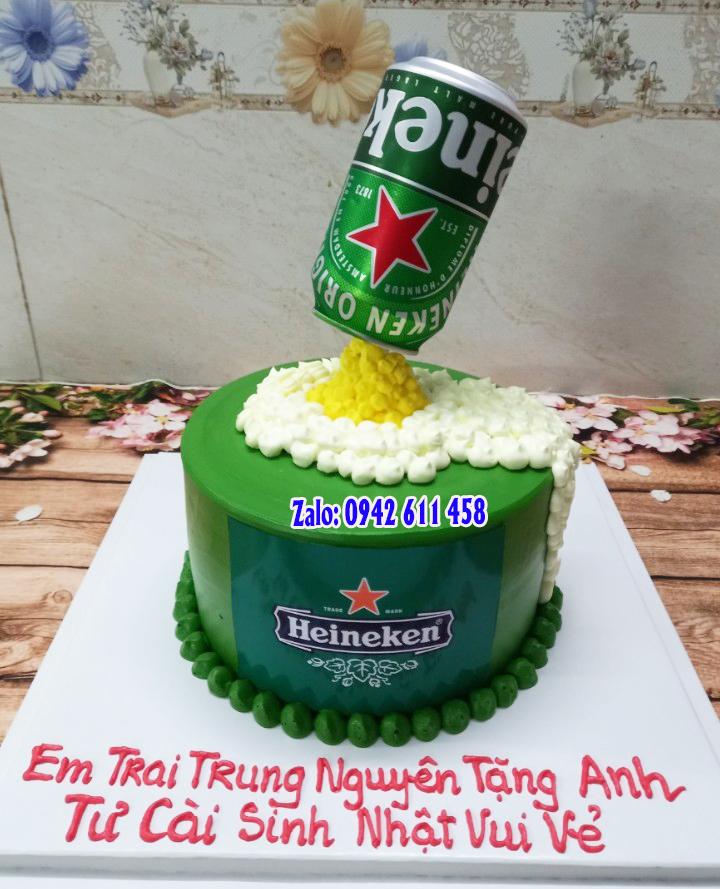 Bánh kem hình bia Heineken mã B06071