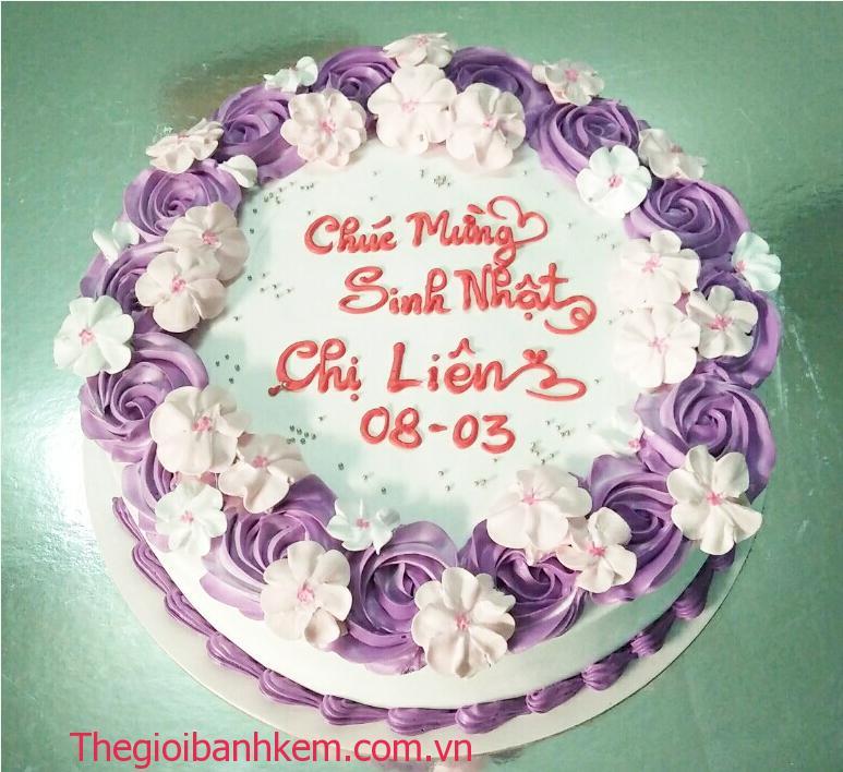 Bánh kem hoa tim Mã B11046
