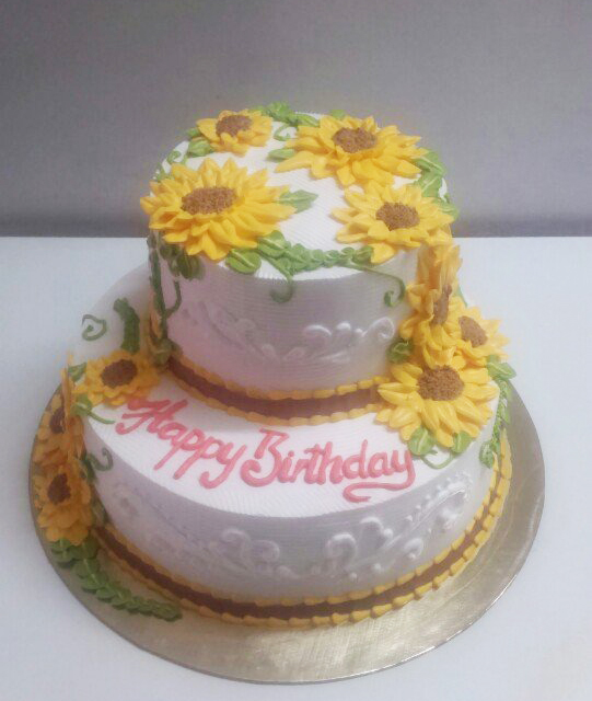 Bánh kem hoa hướng B11049