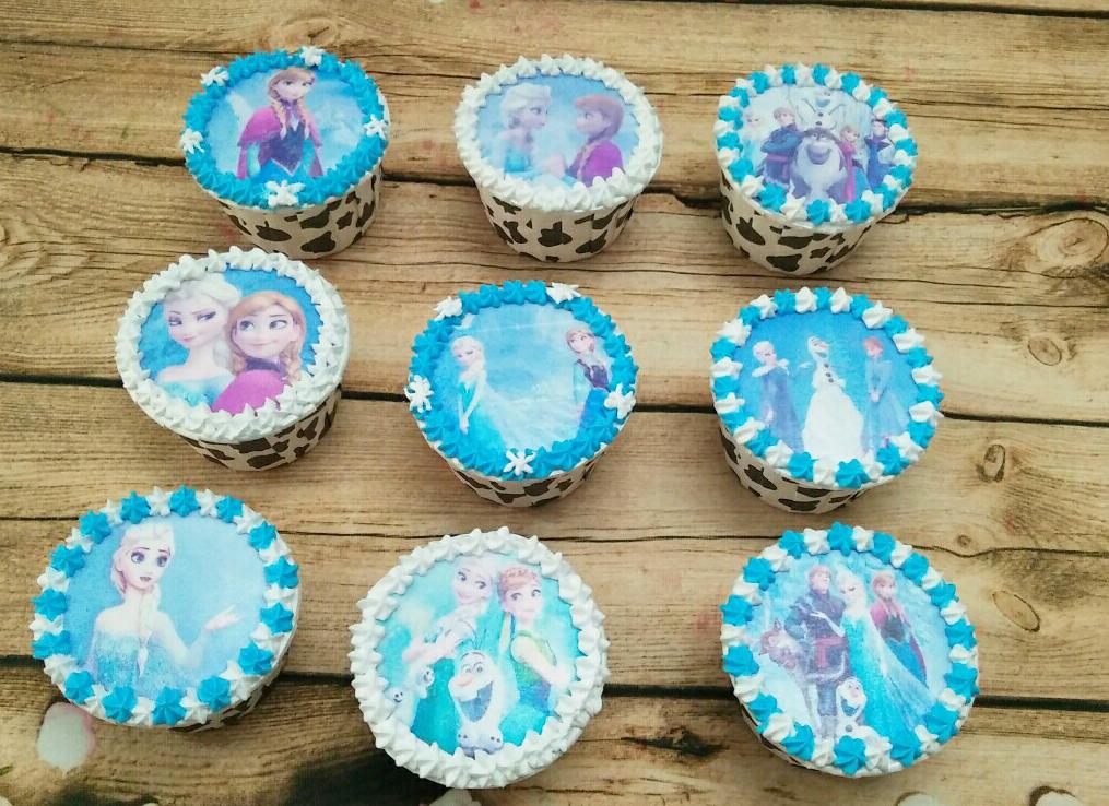 Bánh cupcake in ảnh elsa Mã CC05